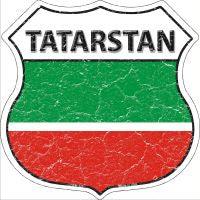 Tatarstan Highway Shield Novelty Metal Magnet HSM-420