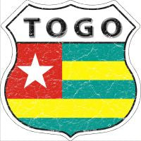 Togo Highway Shield Novelty Metal Magnet HSM-424