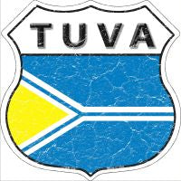 Tuva Highway Shield Novelty Metal Magnet HSM-436