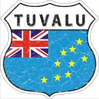 Tuvalu Highway Shield Novelty Metal Magnet HSM-437
