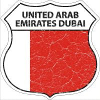 United Arab Emirates Dubai Highway Shield Novelty Metal Magnet HSM-442