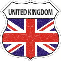 United Kingdom Highway Shield Novelty Metal Magnet HSM-443