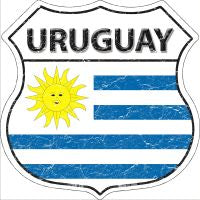 Uruguay Highway Shield Novelty Metal Magnet HSM-446