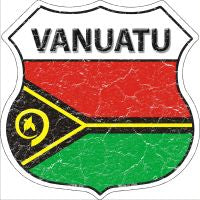 Vanuatu Highway Shield Novelty Metal Magnet HSM-450