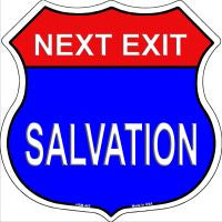 Next Exit Hope Salvation Novelty Metal Magnet HSM-465
