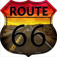 Route 66 Highway Shield Novelty Metal Magnet HSM-466