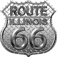 Route 66 Illinois Diamond Highway Shield Novelty Metal Magnet HSM-471