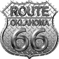 Route 66 Oklahoma Diamond Highway Shield Novelty Metal Magnet HSM-475