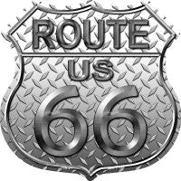 Route 66 Diamond Highway Shield Novelty Metal Magnet HSM-477