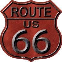 Route 66 Red Highway Shield Novelty Metal Magnet HSM-479