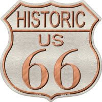 Historic Route 66 Highway Shield Novelty Metal Magnet HSM-481