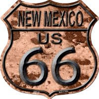 Route 66 New Mexico Rusty Metal Highway Shield Novelty Metal Magnet HSM-491
