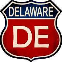 Delaware Highway Shield Novelty Metal Magnet HSM-503