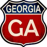 Georgia Highway Shield Novelty Metal Magnet HSM-505