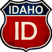 Idaho Highway Shield Novelty Metal Magnet HSM-507