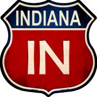 Indiana Highway Shield Novelty Metal Magnet HSM-509