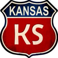 Kansas Highway Shield Novelty Metal Magnet HSM-511