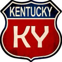 Kentucky Highway Shield Novelty Metal Magnet HSM-512