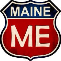 Maine Highway Shield Novelty Metal Magnet HSM-514