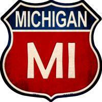 Michigan Highway Shield Novelty Metal Magnet HSM-517