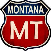 Montana Highway Shield Novelty Metal Magnet HSM-521