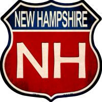 New Hampshire Highway Shield Novelty Metal Magnet HSM-524