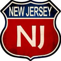 New Jersey Highway Shield Novelty Metal Magnet HSM-525