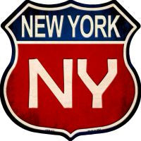 New York Highway Shield Novelty Metal Magnet HSM-527