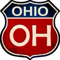Ohio Highway Shield Novelty Metal Magnet HSM-530