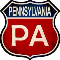 Pennsylvania Highway Shield Novelty Metal Magnet HSM-533