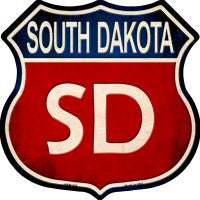 South Dakota Highway Shield Novelty Metal Magnet HSM-536