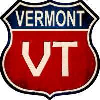 Vermont Highway Shield Novelty Metal Magnet HSM-540