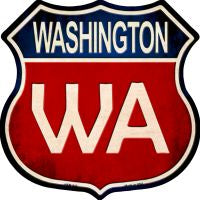 Washington Highway Shield Novelty Metal Magnet HSM-542