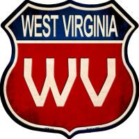 West Virginia Highway Shield Novelty Metal Magnet HSM-543