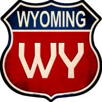 Wyoming Highway Shield Novelty Metal Magnet HSM-545
