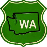 WA State Novelty Metal Magnet HSM-549