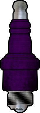 Purple Oil Rubbed Novelty Metal Spark Plug Sign J-010