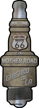 Route 66 Novelty Metal Spark Plug Sign J-030