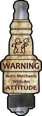 Auto Mechanic Novelty Metal Spark Plug Sign
