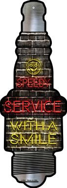 Speedy Service Novelty Metal Spark Plug Sign J-054