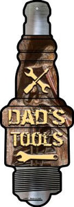 Dads Tools Novelty Metal Spark Plug Sign