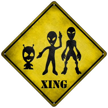 Aliens Xing Novelty Mini Metal Crossing Sign MCX-069