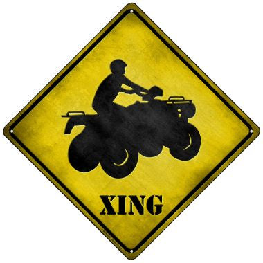 4 Wheeler Xing Novelty Mini Metal Crossing Sign MCX-096