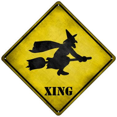 Simple Witch Xing Novelty Mini Metal Crossing Sign MCX-218