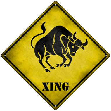 Taurus Xing Novelty Mini Metal Crossing Sign MCX-235