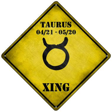 Taurus Xing Novelty Mini Metal Crossing Sign MCX-236