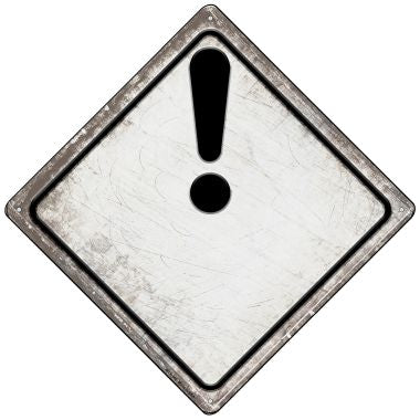 Attention Novelty Mini Metal Crossing Sign MCX-548