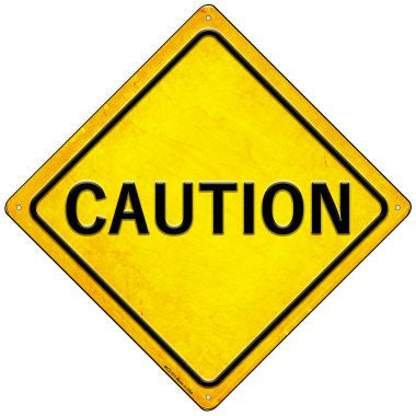 Caution Novelty Mini Metal Crossing Sign MCX-573