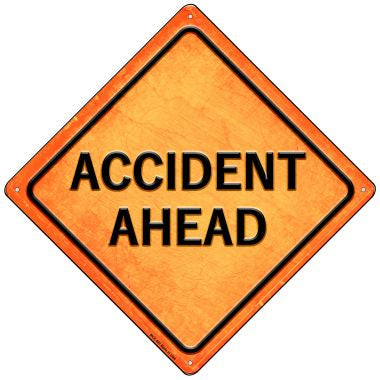 Accident Ahead Novelty Mini Metal Crossing Sign MCX-582