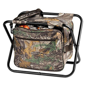 OAGear Realtree camo 18 can steel frame folding camping hunting cooler big seat